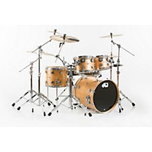 DW Collector's Series 4-Piece Satin Oil Natural Birch Shell Pack with Chrome Hardware Level 1