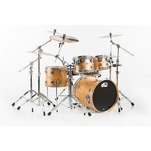 DW Collector's Series 4-Piece Satin Oil Natural Birch Shell Pack with Chrome Hardware
