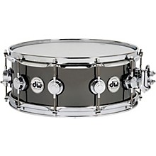 Collector's Series Black Nickel Over Brass Metal Snare Drum 14 x 5.5 in. Black Nickel Over Brass with Chrome Hardware