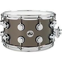 Collector's Series Black Nickel Over Brass Metal Snare Drum 14 x 8 in. Black Nickel Over Brass with Chrome Hardware