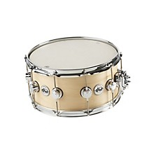 DW Collector's Series Satin Oil Snare Drum Level 1 Natural with Chrome Hardware 7x14