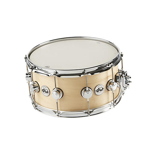 open box dw collector 39 s series satin oil snare drum natural with chrome hardware 7x14 guitar. Black Bedroom Furniture Sets. Home Design Ideas