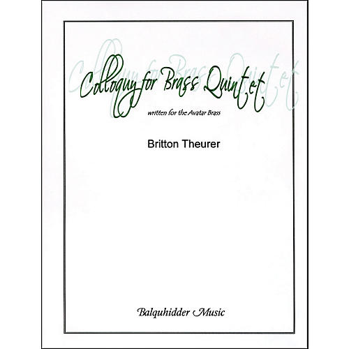 Carl Fischer Colloquy for Brass Quintet Book