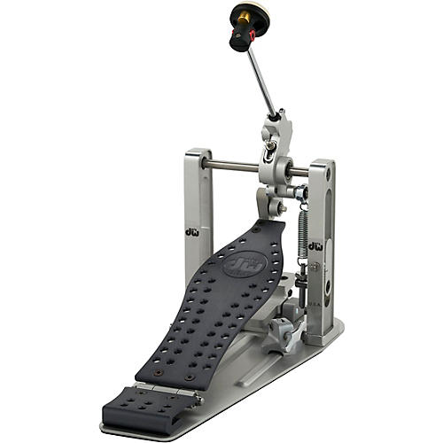 DW Colorboard Machined Direct Drive Single Bass Drum Pedal with Gray Footboard