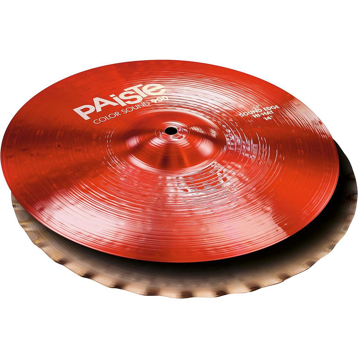 Paiste Colorsound 900 Sound Edge Hi Hat Cymbal Red