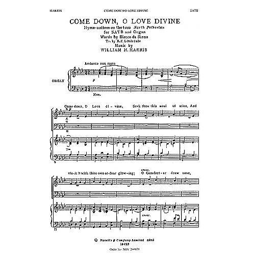 Novello Come Down, O Love Divine SATB Composed by William H. Harris