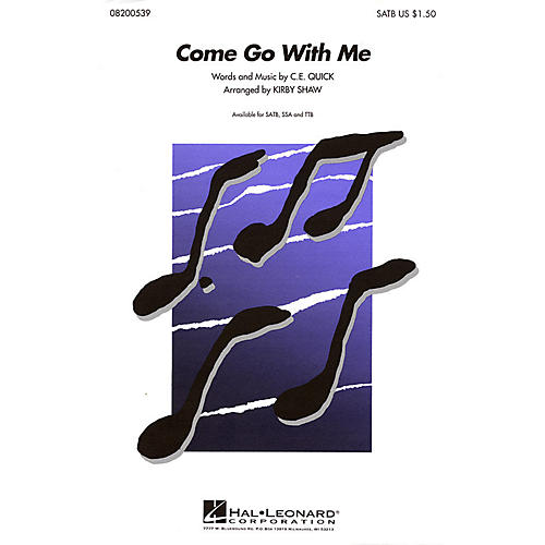 Hal Leonard Come Go with Me SATB a cappella arranged by Kirby Shaw