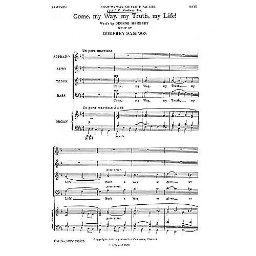 Novello Come My Way, My Truth, My Life SATB Composed by Godfrey Sampson