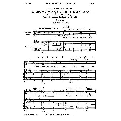Novello Come, My Way, My Truth, My Life SATB Composed by Richard Graves