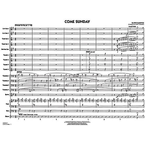 G. Schirmer Come Sunday - Jazz Ensemble Score Jazz Band