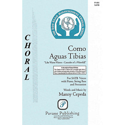 Pavane Como Aguas Tibias Score & Parts Composed by Manny Cepeda