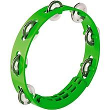 Compact ABS Plastic Handheld Tambourine 8 in. Grass Green