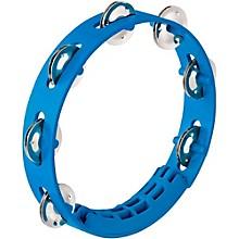Compact ABS Plastic Handheld Tambourine 8 in. Sky Blue