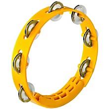 Compact ABS Plastic Handheld Tambourine 8 in. Yellow