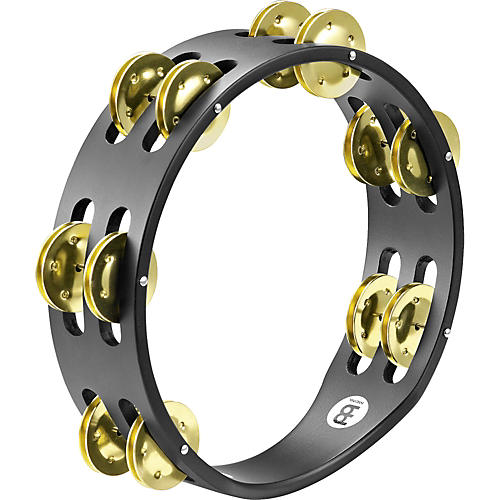 Meinl Compact Wood Tambourine Two Rows Brass Jingles