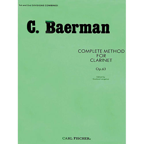 Carl Fischer Complete Method For Clarinet Op.63 - Parts 1 & 2