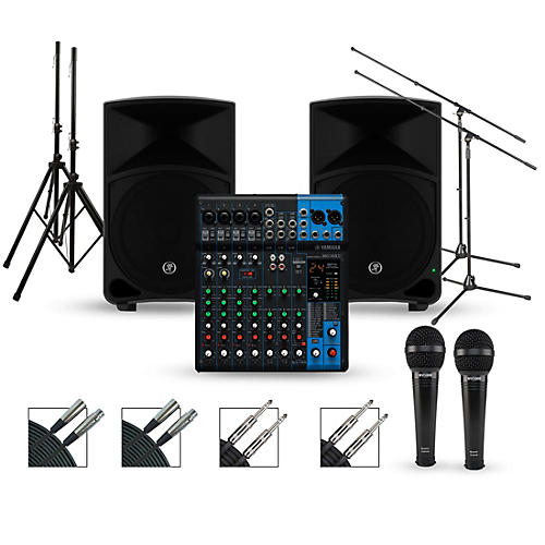 yamaha complete pa package with mg10xu mixer and mackie thump speakers 12 mains guitar center. Black Bedroom Furniture Sets. Home Design Ideas