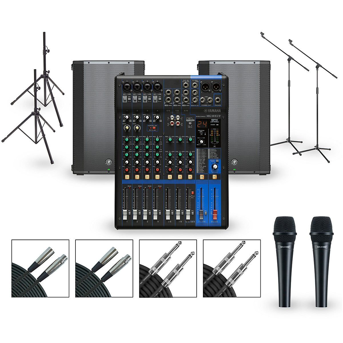 Yamaha Complete PA Package with MG10XUK Mixer and Mackie Thump BST Boosted Speakers