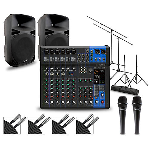 Yamaha Complete PA Package with MG12XUK Mixer and Gemini HPS BLU Speakers