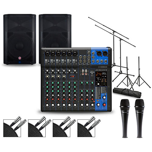 Yamaha Complete PA Package with MG12XUK Mixer and Harbinger VaRi V2200 Speakers