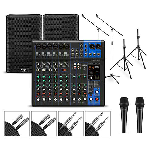 Yamaha Complete PA Package with MG12XUK Mixer and QSC K.2 Speakers