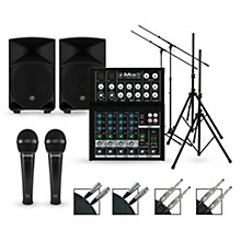 Mackie Complete PA Package with Mix8 8-channel Mixer and Thump Series Powered Speakers
