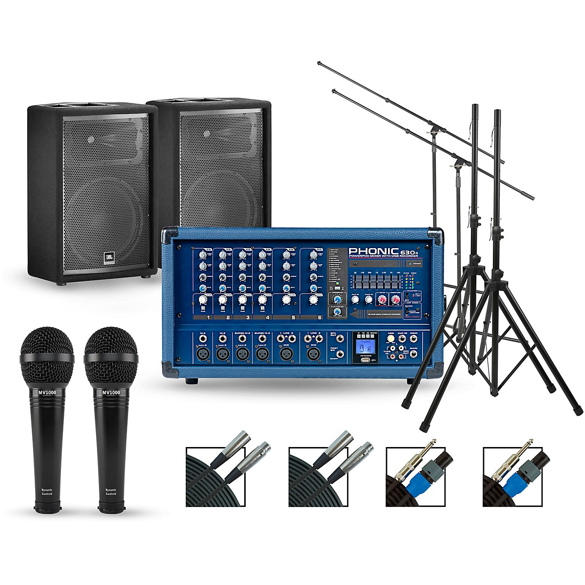 Phonic Complete Pa Package With Powerpod 630r Mixer And