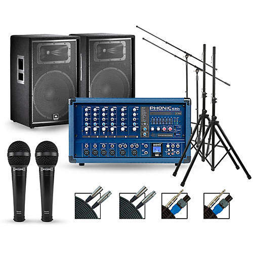 Phonic Complete PA Package with Powerpod 630R Mixer and JBL JRX200 Series Speakers