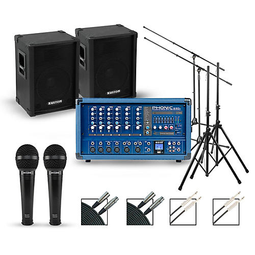 Phonic Complete PA Package with Powerpod 630R Mixer and Kustom KPC Speakers
