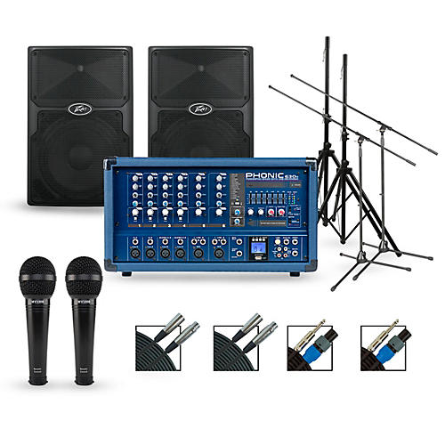 Phonic Complete PA Package with Powerpod 630R Mixer and Peavey PVX Series Speakers