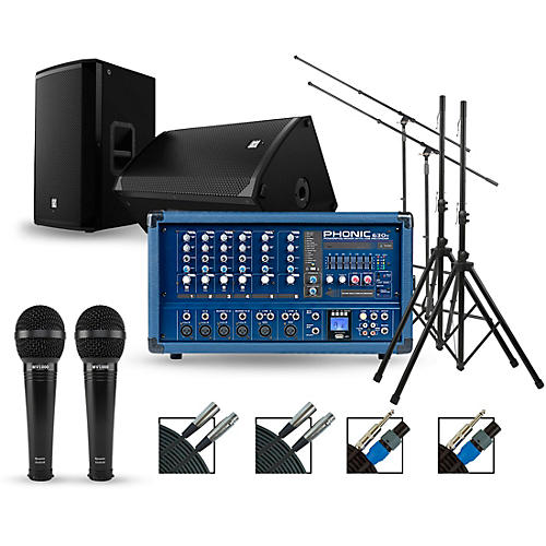 Phonic Complete PA Package with Powerpod 630R Plus Mixer and Electro-Voice EKX Speakers