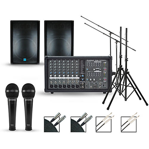 Phonic Complete PA Package with Powerpod 780 Plus Mixer and Gemini GSM Series Speakers
