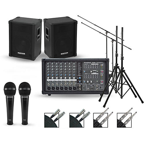Phonic Complete PA Package with Powerpod 780 Plus Mixer and Kustom KPC Series Speakers