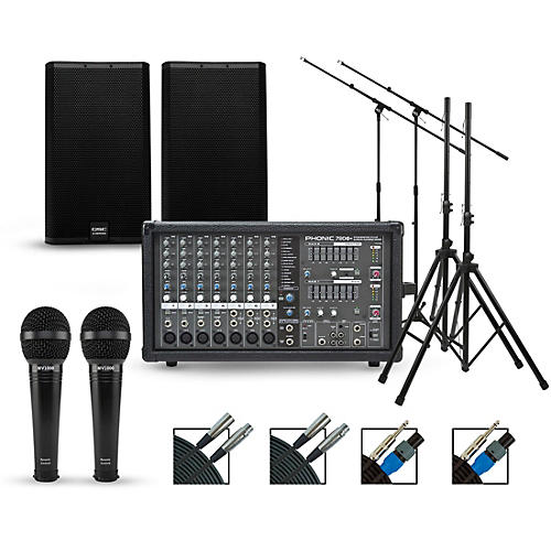 Phonic Complete PA Package with Powerpod 780 Plus Mixer and QSC E Series Speakers