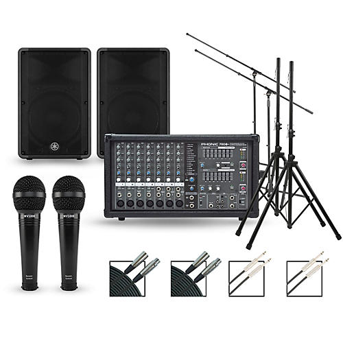 Phonic Complete PA Package with Powerpod 780 Plus Mixer and Yamaha CBR Speakers