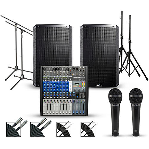 Presonus Complete PA Package with PreSonus AR12 14-channel Mixer with Alto Truesonic 2 Series Active Speakers