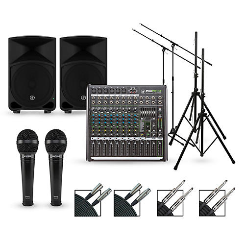 Mackie Complete Pa Package With Profx12v2 Mixer Thump