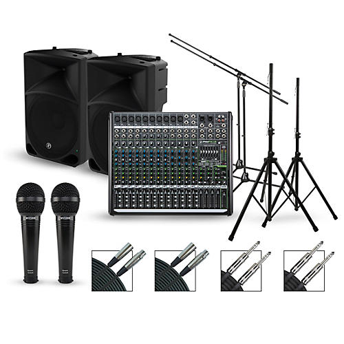 mackie complete pa package with profx12v2 mixer and mackie thump speakers guitar center. Black Bedroom Furniture Sets. Home Design Ideas