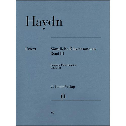 G. Henle Verlag Complete Piano Sonatas - Volume III By Haydn