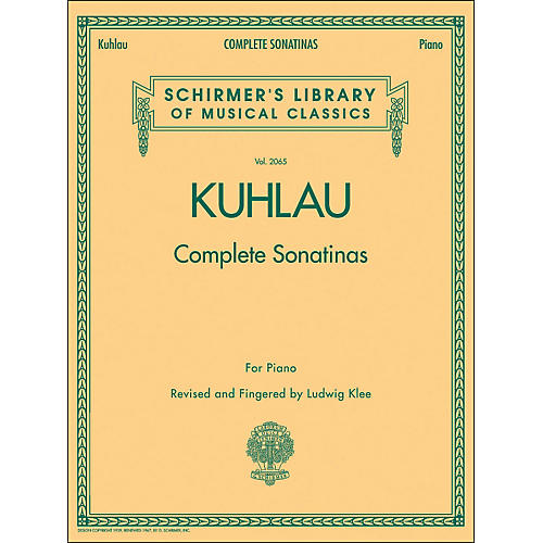 G. Schirmer Complete Sonatinas for Piano Vol. 2065 By Kuhlau