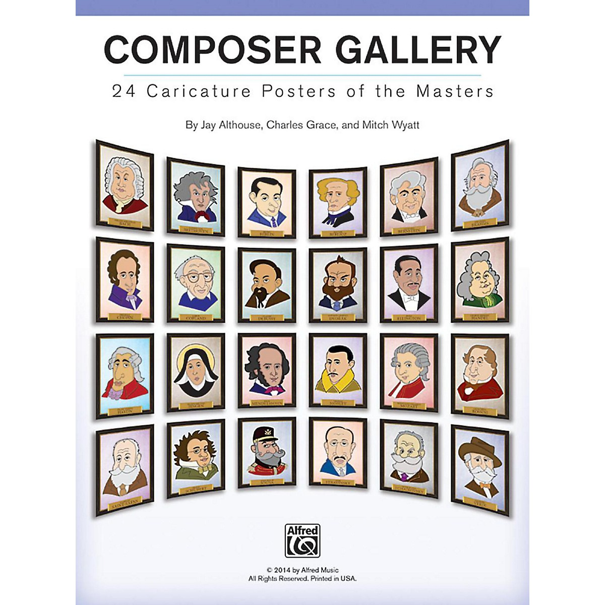Alfred Composer Gallery: 24 Caricature Posters of the Masters