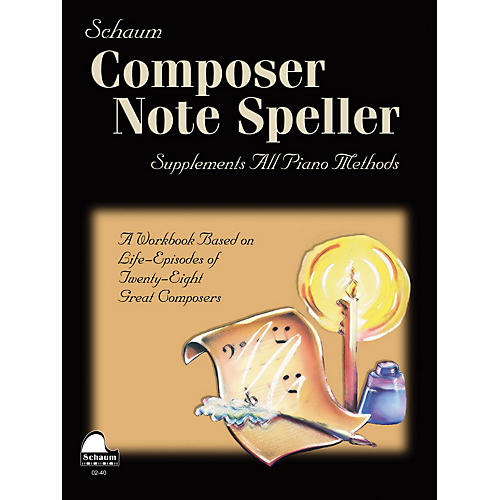 SCHAUM Composer Note Speller Educational Piano Series Softcover