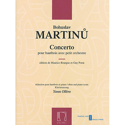 Max Eschig Conc (for Oboe & Piano Reduction) Editions Durand Series