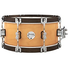 Concept Classic Snare Drum with Wood Hoops 14 x 6.5 in. Natural/Walnut Hoops