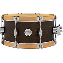 Concept Classic Snare Drum with Wood Hoops 14 x 6.5 in. Walnut/Natural Hoops