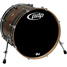 PDP by DW Concept Exotic Series Bass Drum Walnut to Charcoal Burst