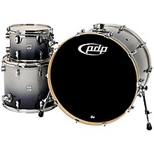 "PDP by DW Concept Maple 3-Piece Shell Pack with 24"" Bass Drum Level 1 Silver to Black Fade"