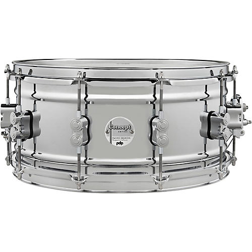 PDP by DW Concept Metal Chrome Over Steel Snare Drum