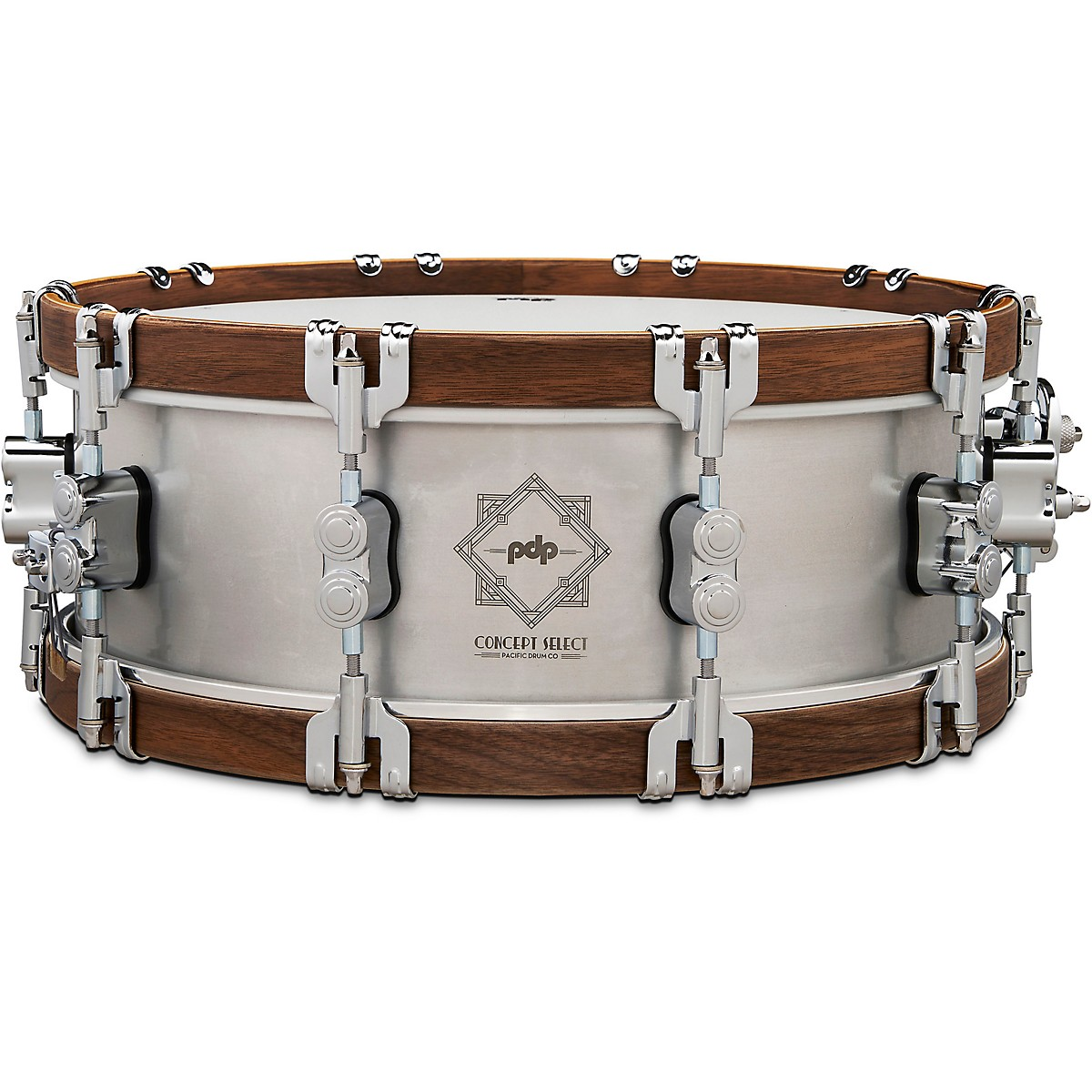 PDP by DW Concept Select Aluminum Snare Drum With Walnut Hoops