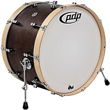 PDP by DW Concept Series Classic Wood Hoop Bass Drum Level 1 24 x 14 in. Walnut/Natural